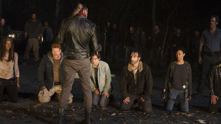 group kneeling