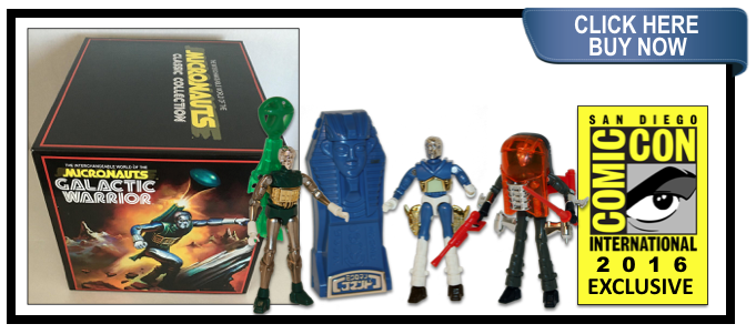 SDCC 2016 Micronauts Classic Collection box set and Comic book