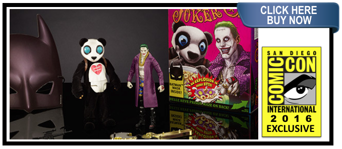 SDCC 2016 DC COMICS MULTIVERSE SUICIDE SQUAD THE JOKER & PANDA 2 PACK FIGURES