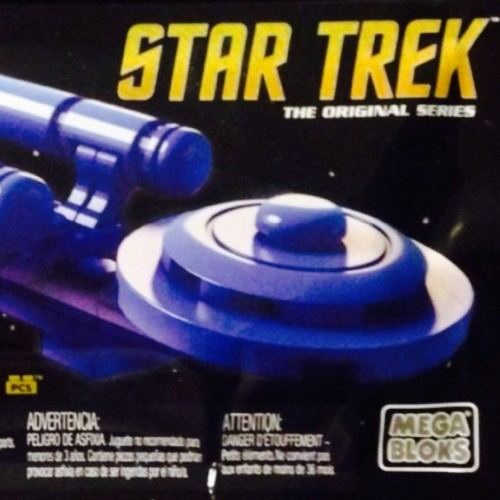 SDCC 2016 Mattel Exclusive Star Trek 50th Anniversary Mega Bloks Blue USS Enterprise