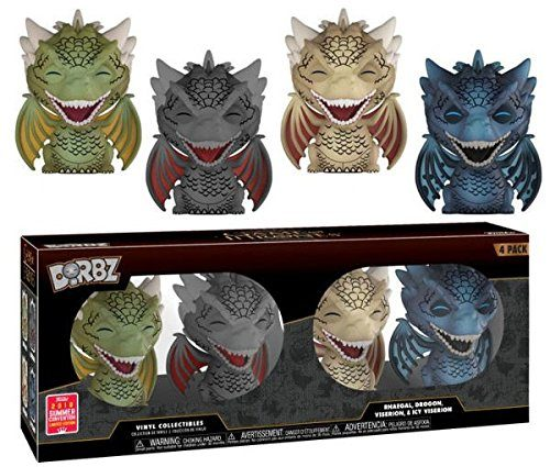 Dorbz: Funko Game of Thrones – Dragons 4-pack 2018 SDCC Exclusive