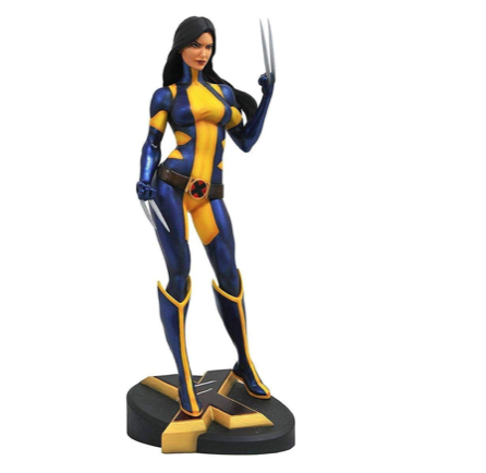 DIAMOND SELECT TOYS Diamond Select Marvel Gallery PVC Statue X-23 Unmasked SDCC 2018 23 cm